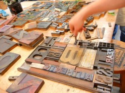 Letterpress Poster Printing with Wood Type