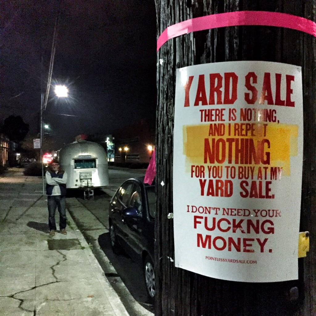 pointless yard sale