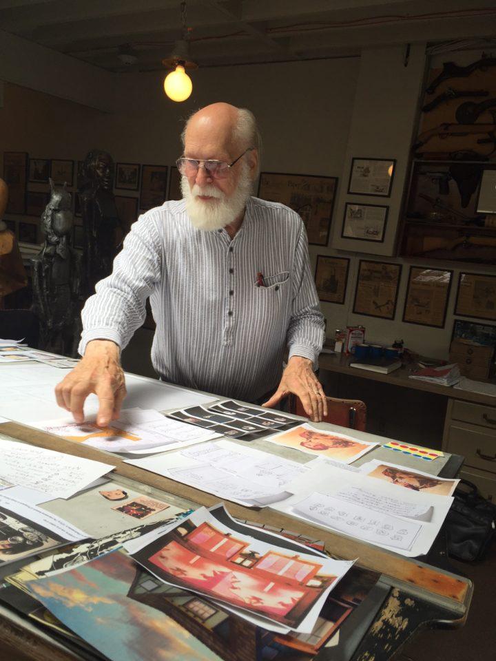 Tyler James Hoare in his studio