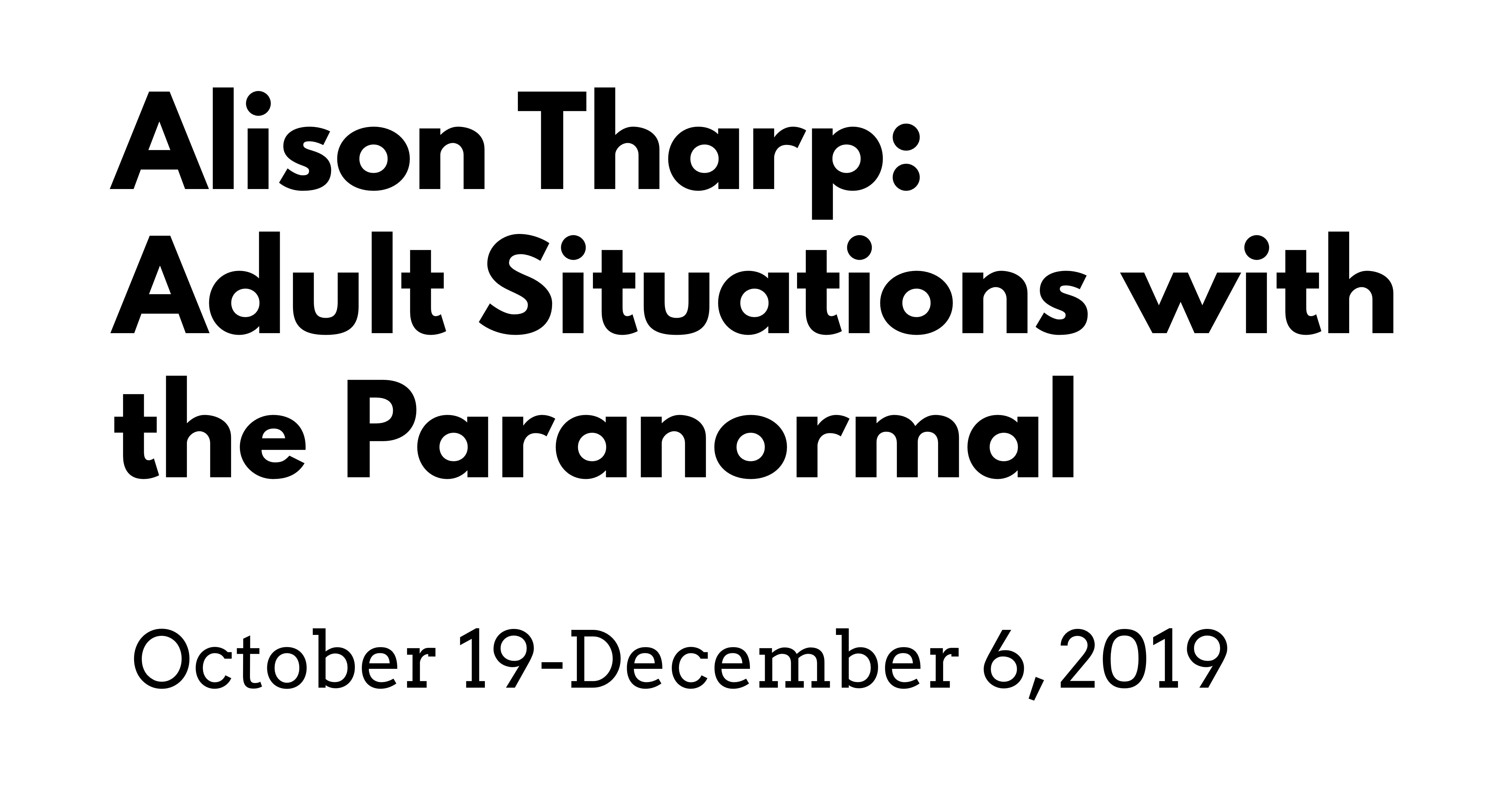 Adult Situations with the Paranormal